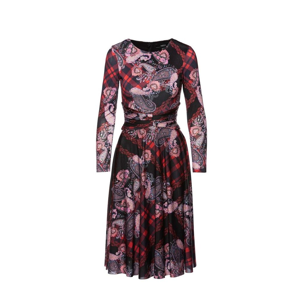 Nissa - Printed Midi Dress Colorful