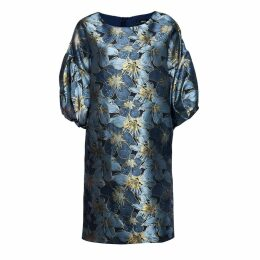 Nissa - Brocade Dress With Puffed Sleeves