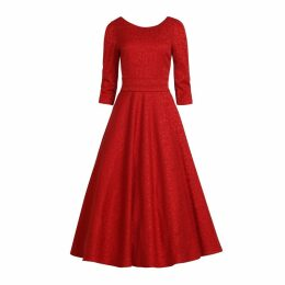 MATSOUR'I - Jacquard Dress Alyzee Red