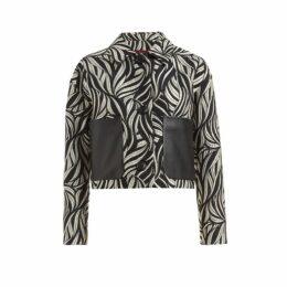 WtR - Saffron Monochrome Jacquard Wool Blend Jacket