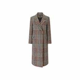 Baukjen - Milan Boyfriend Coat In Blush & Black Check