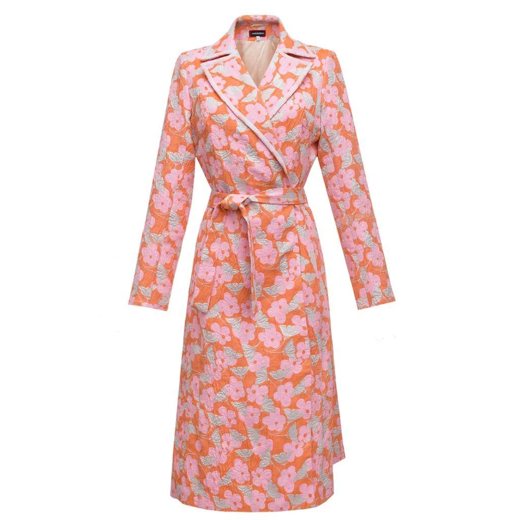 JIRI KALFAR - Gold & Blue Sequin Skirt