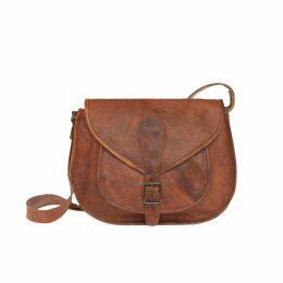 VIDA VIDA - Vida Vintage Leather Saddle Bag Large