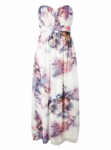 **Little Mistress Multi Coloured Bandeau Maxi Dress, Bright Multi