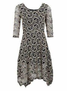 Womens *Izabel London Beige Paisley Lace Dress- Beige, Beige