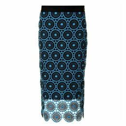 Laurel Midi Skirt - Blue
