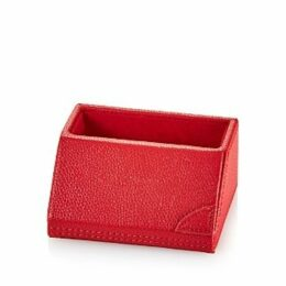 Campo Marzio Pebbled Faux Leather Desk Card Holder