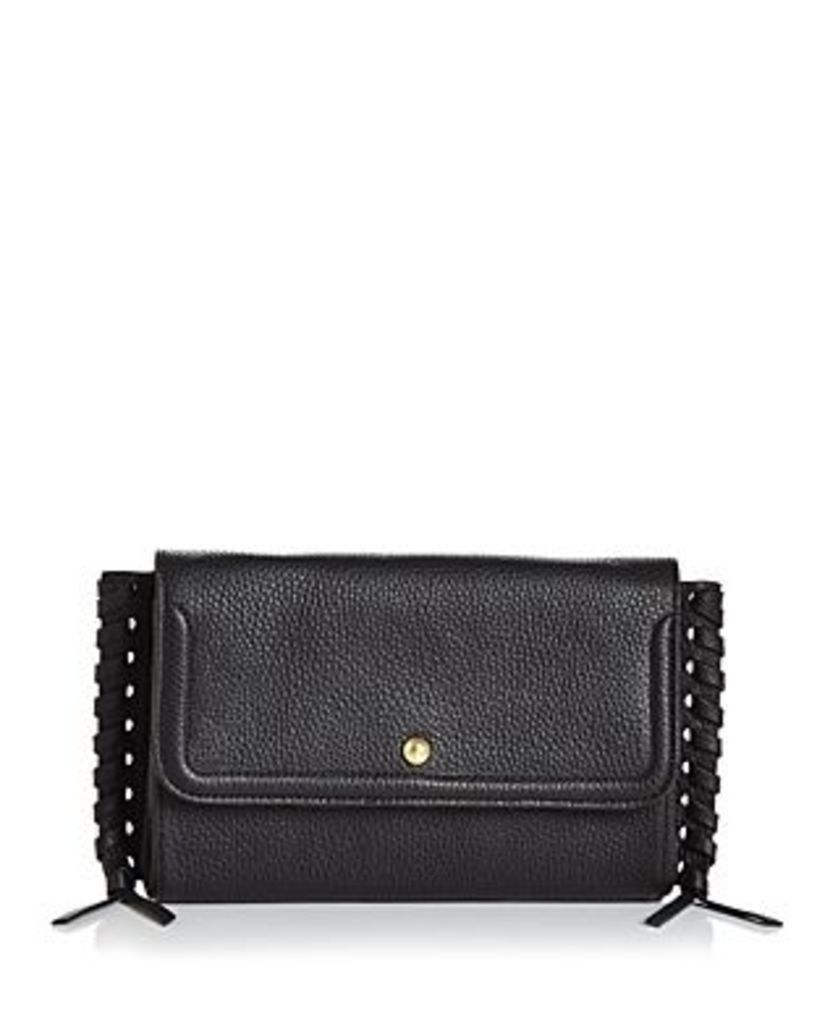 Annabel Ingall Emma Oversize Whipstitch Leather Clutch