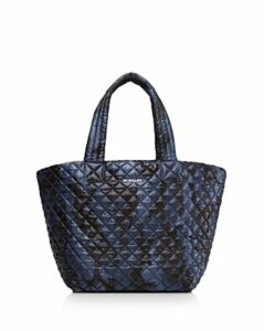 Mz Wallace Metro Medium Dark Blue Camo Tote