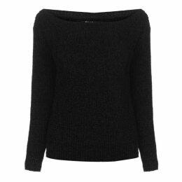 Firetrap Blackseal Off Shoulder Knitted Jumper