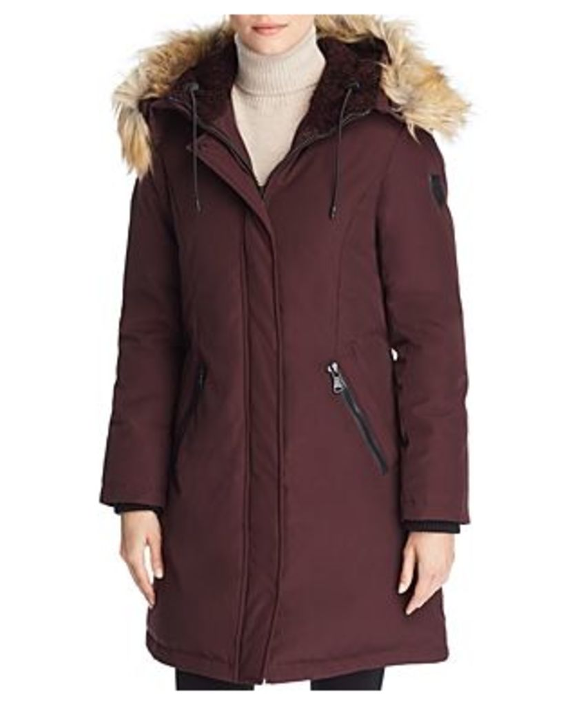 Vince Camuto Hooded Faux Fur Trim Parka