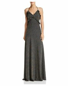 Jill Jill Stuart Striped Halter Gown