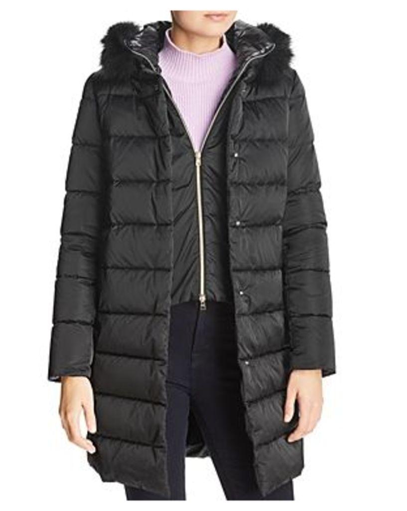Herno Fox Fur Trim Down Coat