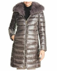 Herno Elisa Fox Fur-Collar Down Coat
