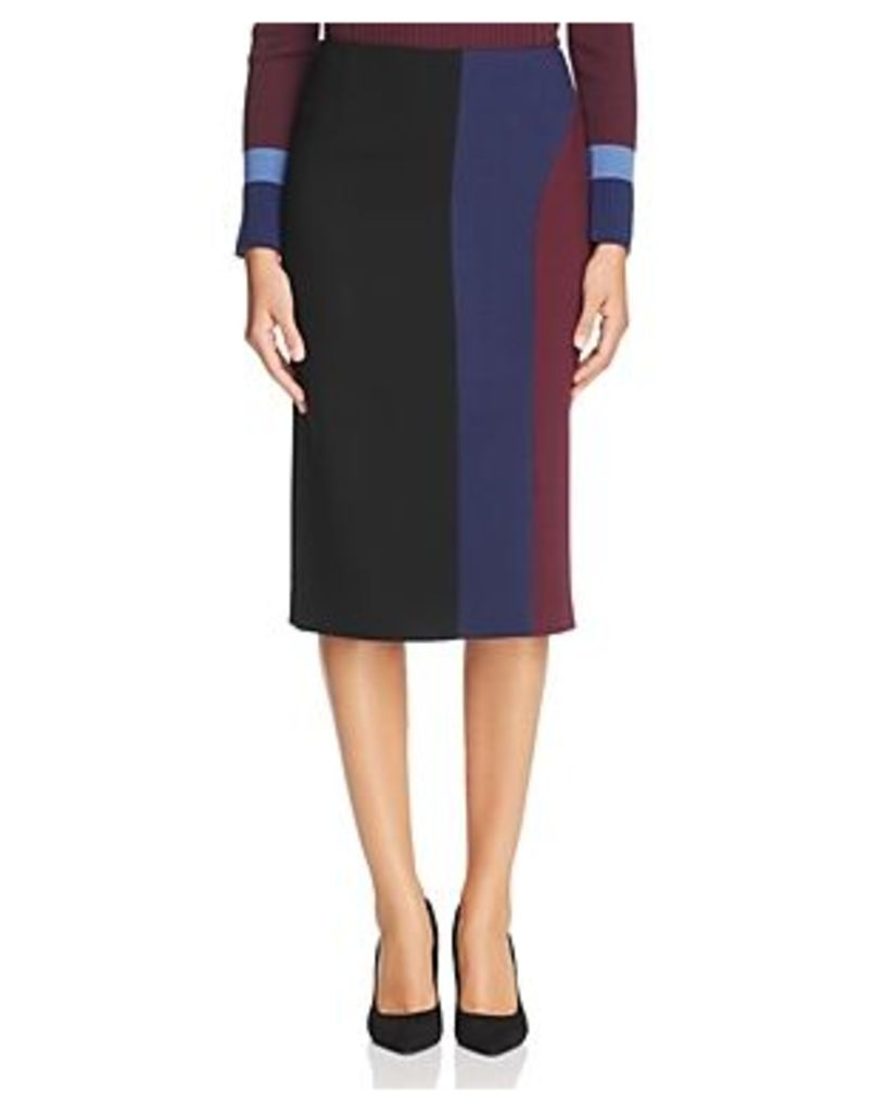 Boss Velivia Color Block Pencil Skirt