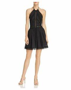 Charo Ruiz Ibiza Kim Crochet Lace Paneled Dress
