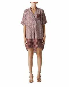 Whistles Lea Woodblock-Print Dress
