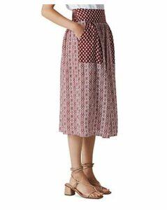 Whistles Woodblock-Print Skirt