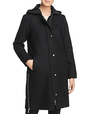 Vince Camuto Hooded Side Zip Coat