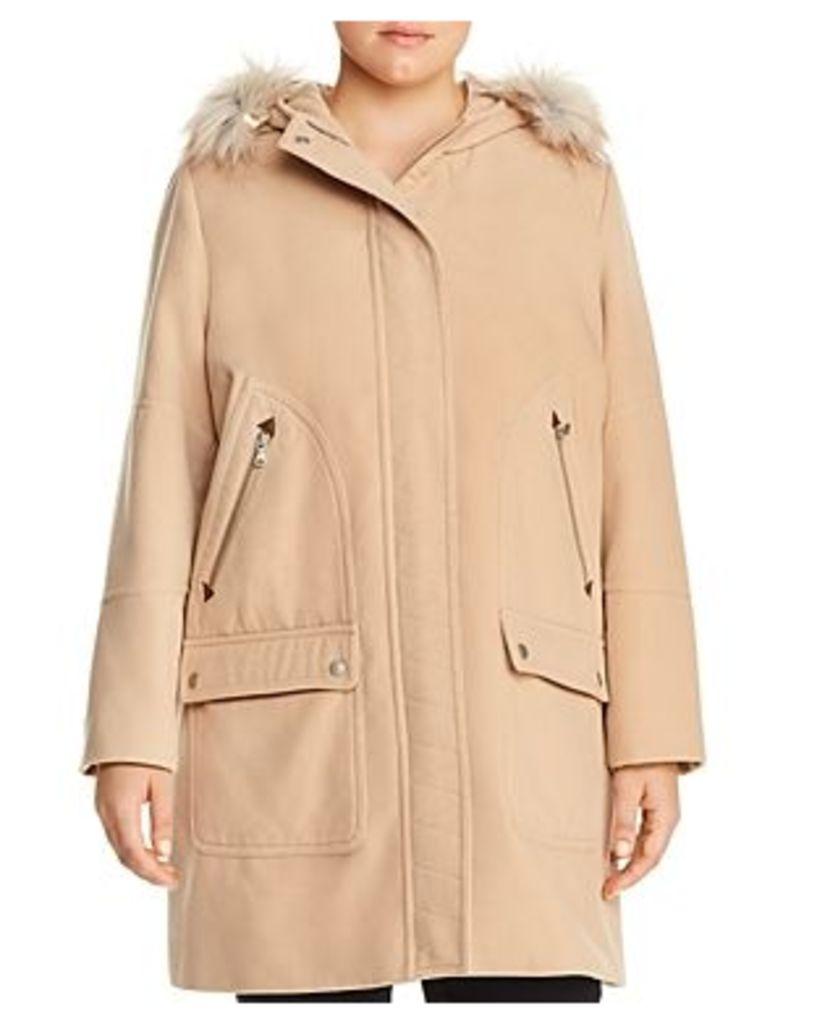 Bagatelle Plus Hooded Zip-Pocket Coat