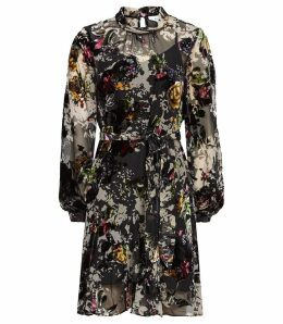 Reiss Jasia - Floral Burnout Shift Dress in Multi, Womens, Size 16