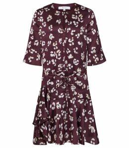 Reiss Orla - Animal Printed Mini Dress in Multi, Womens, Size 16