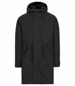 Reiss Kielder - Longline Hooded Coat in Navy, Mens, Size XXL