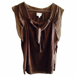 Brown Linen Knitwear
