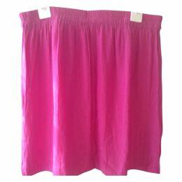 Pink Polyester Skirt