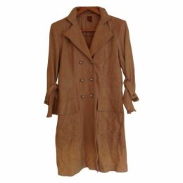Camel Leather Coat