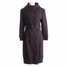 Purple Wool Coat