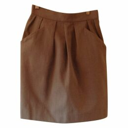 Khaki Cotton Skirt