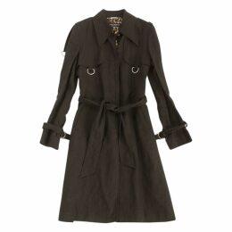 Black Linen Trench coat