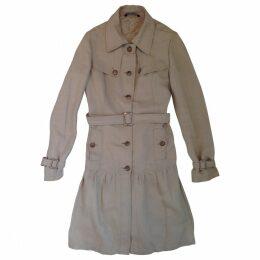 Beige Linen Coat