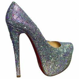 Daffodile glitter heels