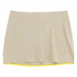 Gold Cotton Skirt