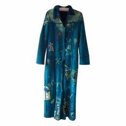 Turquoise Suede Coat