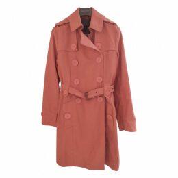 Orange Cotton Trench coat