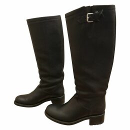 Geronimo leather biker boots