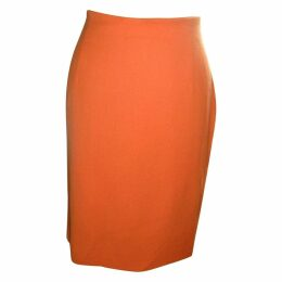 Orange Wool Skirt
