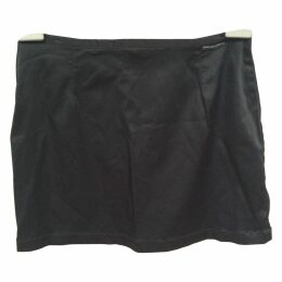 Black Synthetic Skirt