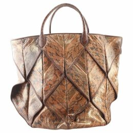 Exotic leathers tote