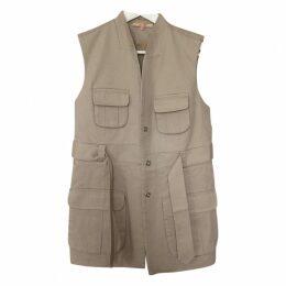 Beige Cotton Trench coat