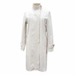 Ecru Cotton Trench coat