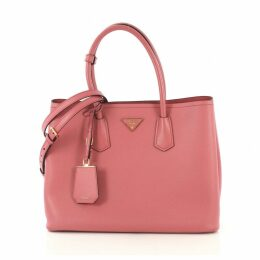 Double leather tote