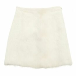 Ecru Wool Skirt