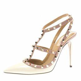 Rockstud leather heels