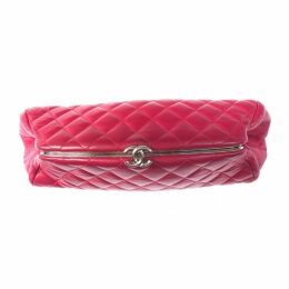 Mademoiselle leather clutch bag
