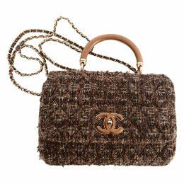 Coco Handle tweed handbag