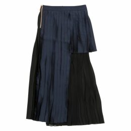 Blue Viscose Skirt